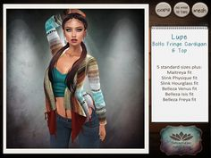 Lupe Boho Fringe Cardigan Second Life Group Gifts. Come to the nessmarket blog to find gifts, sales, freebies, offers and new releases.