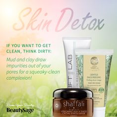 Purify with LIFTLAB's 3-in-1 Cleanser, Detox Mask and Exfoliant.