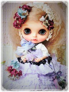 *Prettam*カスタムブライス**Sweet Lolita×purple corsage~*** - ヤフオク!