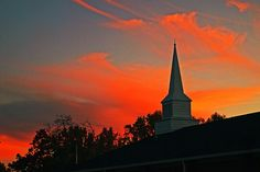 Sunset in Shelby NC behind a church makes you realize where all this beauty comes from..