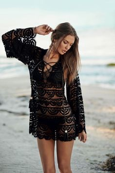35f79b4c5e Ways to Wear Black Lace - Glam Bistro Swimsuits 2014
