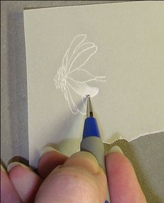 Free Step by Step Parchment Craft Tutorial on Embossing plus Patterns Hand Made Cards