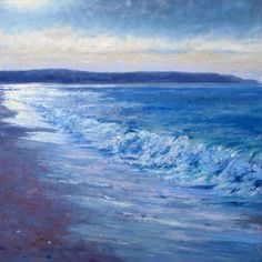 Original oil on board - 'Looking South' seascape painting by AndrewBarrowmanArt on Etsy