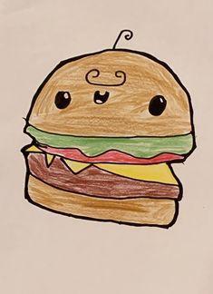 happy drawings easy sandwich