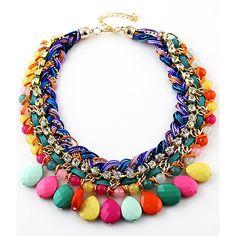 Multi Gemstone Necklace | hiphippo | TROVEA