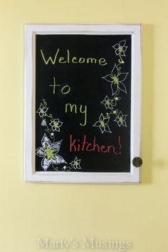 Chalk Kitchen Messag