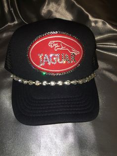 A personal favorite from my Etsy shop https://www.etsy.com/listing/463474292/bling-hats-womens-hats-jaguar-hat-bling