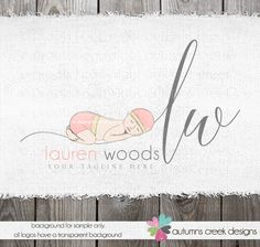 photography logos newborn logos  logo with a baby  by autumnscreek