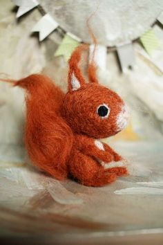 Watch me felting: Tiny And Cute Squirrel (Needle Felted) | Miau Smiles
