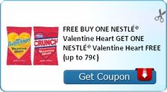 FREE BUY ONE NESTLÉ® Valentine Heart GET ONE NESTLÉ® Valentine Heart FREE (up to 79¢)