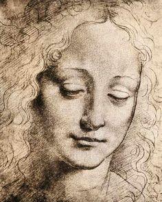 Leonardo da Vinci - Head of a Young Girl