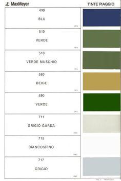 Piaggio Vespa Max Meyer Colours: mid 1960s - 1970s