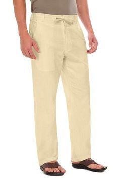 4f908b6aa2 Men Casual Trousers Linen Summer Pants Light Soft Formal Pants