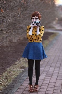 I love the circle skirt.