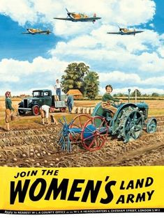 Two Men and a Little Farm: VINTAGE POSTER SUNDAY, WOMEN'S LAND ARMY