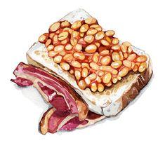 TV Magazine - Food Illustration - Holly Exley Illustration