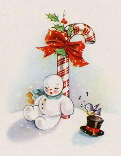 Free Vintage Snowman | Keurmerk Seminar in voorbereiding Gestart met afstuderen Review ...