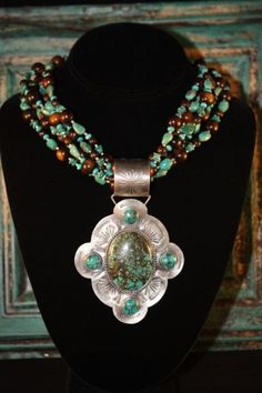 Wow! What a beauty!! from J Forks Designs found at Cowgirl Kim Unique Western Chic  http://www.cowgirlkim.com/shop/Jewelry/J-FORKS-DESIGNS-TURQUOISE-AND-BUFFALO-HORN-NECKLACE/prod_1322.html
