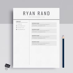 A Professional Google Docs Resume Template By MioDocs Instant Download Works With PC And