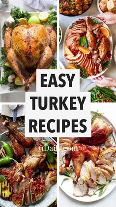 These turkey recipes are packed with juicy flavor, easy, and are tried and true. Making your turkey the highlight of the feast! Easy Turkey Recipes, Fall Recipes, Wine Recipes, Healthy Dinner Recipes, Holiday Recipes, Christmas Recipes, Holiday Ideas, Christmas Ideas, Merry Christmas