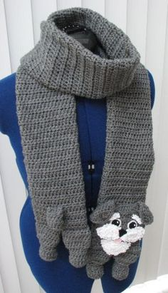 Schnauzer Scarf and Tote Set. It the latest pattern in my animal scarf/tote series. The pattern is 5.99 and you can get it here ...