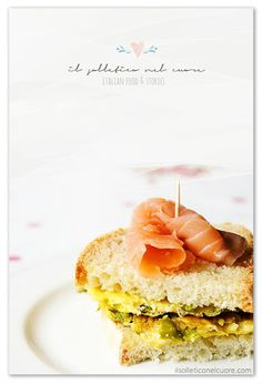 Frittata di asparagi selvatici e salmone Easter Recipes, Frittata, Pancakes, Sandwiches, Breakfast, Food, Morning Coffee, Eten, Paninis