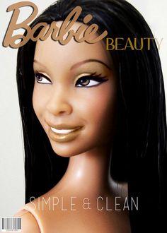 Barbie - interesting repaint of a Barbie Basics doll