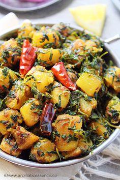 Aloo Methi Recipe | Alu Methi | Aloo Methi Ki Sabji - Aromatic Essence