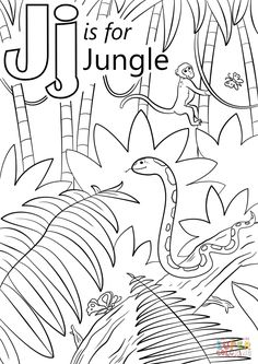 Jungle Scene Coloring Page From Forest Category Select 29179 Printable Crafts Of Cartoons Nature Animals Bible And Many More