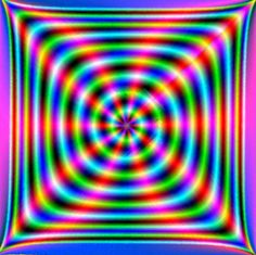 First listen to music, next look in the middle, red lines seem to dance. The though music doesn't have anything to do with this trick. Cool Optical Illusions, Art Optical, Illusion Gif, Eye Tricks, Acid Art, Magic Eyes, Wow Art, Psychedelic Art, Geometric Art