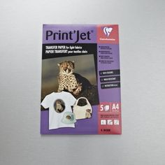 Clairefontaine Print Jet Transfer paper is ideal for personalising any light-coloured fabric, whether it's T-shirts, caps, bags or home furnishings. It's easy to use and gives you brightly coloured images which are durable and wash-resistant. This pack contains five A4 sheets. https://www.cassart.co.uk/craft/paper_and_cards/product_type_inkjet_paper/clairefontaine_print_jet_t-shirt_transfer_paper_x_5_sheets_a4.htm
