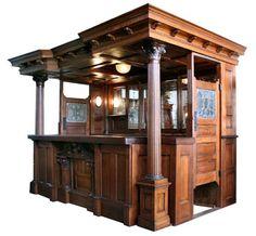 old english bars woodwork | Antique Back Bars, Antique Pub Bars, Antique Saloon…