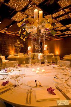 Indoor wedding reception at W South Beach