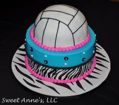 Volleyball cake. THIS IS AWESOME