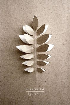 Paper cut leaf wrap ♥
