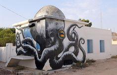 Arte urbana: 150 artistas de 30 países transformam vila da Tunísia em galeria ao…