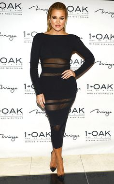 Khloé Kardashian Shows Curves in Risqué Black Dress at Las Vegas Nightclub Party?See the Photos! | E! Online Mobile