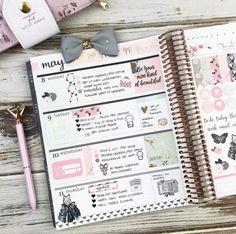 Layout in my Erin Condren planner using our Enchanted Collection #plannergirl #plannerlayout #eclp #erincondren #lifeplanner #horizontaleclp