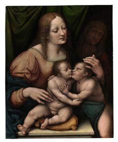 Giovanni Pietro Rizzi called Giampietrino, Madonna and Child with Saint Elizabeth and the Infant Saint John the Baptist.