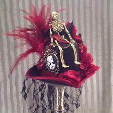 Fascinator Top Hat Wedding Goth Steampunk Burlesque Holloween Voodoo King Flum