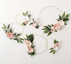 Boho Blush Wreath Set Wreath Wall Gallery Wall