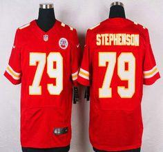 40afe2745ced Kansas City Chiefs Jersey 79 Donald Stephenson Red Team Color NFL Nike  Elite Jerseys