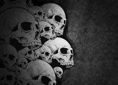 Metal Poster Dark Skull Skeleton