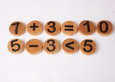 Wooden toy numbers eco friendly toy number by DINDINTOYS on Etsy