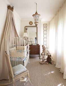 Showcase Nursery by Pam Evans.Antique chest & mirror go through life, along with antique chandelier & printsNursery by Pam Evans.Antique chest & mirror go through life, along with antique chandelier & prints Baby Bedroom, Baby Boy Rooms, Baby Boy Nurseries, Nursery Room, Girl Nursery, Kids Bedroom, Cottage Nursery, Child's Room, Baby Room Design