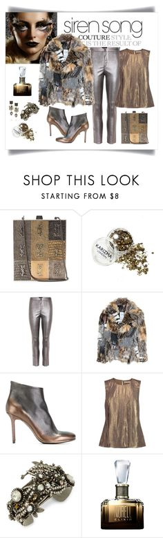 """Ashish Faux Fur Exotic Print Jacket Look"" by romaboots-1 ❤ liked on Polyvore featuring SAM., Yves Saint Laurent, Isabel Marant, Ashish, Officine Creative, Halston Heritage, Miriam Haskell, Erickson Beamon and Norell"