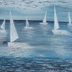 """A sailor is an artist whose medium is the wind."" - Webb Chiles by Elena Hajda Design Your Home, Houzz, Living Room Designs, Original Art, Waves, Sailboats, The Originals, Abstract, Boating"
