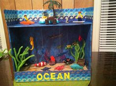 Inspo from our friends! Ocean Projects, Animal Projects, Science Projects, School Projects, Projects For Kids, Ocean Habitat, Shark Habitat, Ocean Diorama, Ecosystems Projects