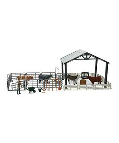 Look at this #zulilyfind! Ranch Cow Playset by New-Ray Toys #zulilyfinds