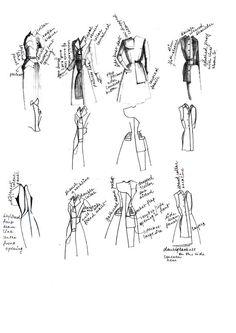 Fashion Sketchbook - fashion design sketches, jacket design development; fashion portfolio // Upsana